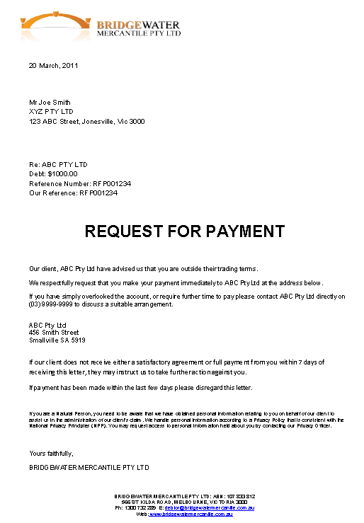 Final Demand For Payment Letter Template Amp Sample Form - Demand for payment letter template